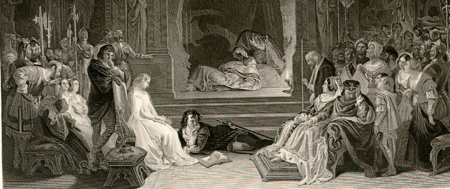Scene from Hamlet - the play within the play